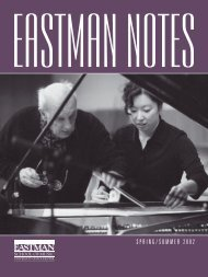 2001018 Eastman Notes - Eastman School of Music - University of ...