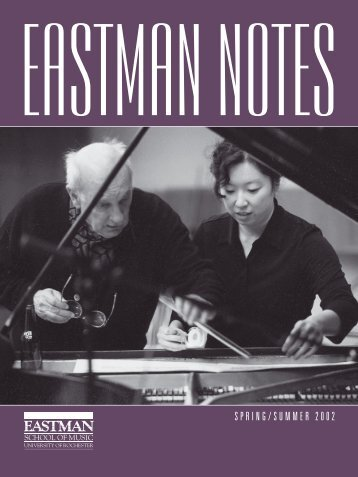 2001018 Eastman Notes - Eastman School of Music - University of ...