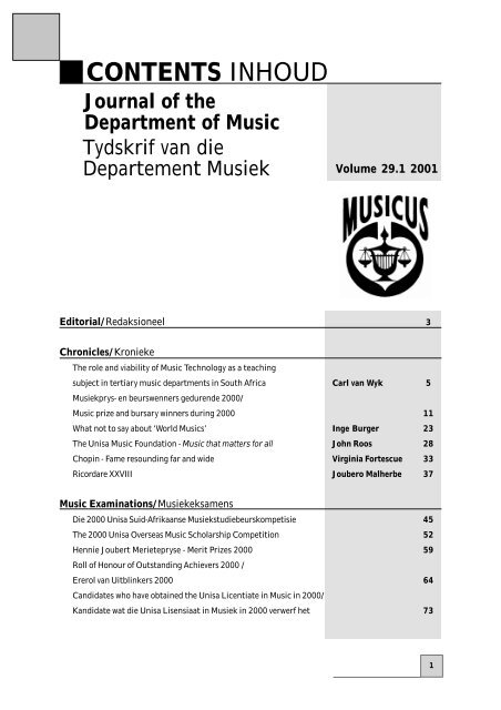 Fonkelnieuw pdf file: 84 kb - Unisa XV-43