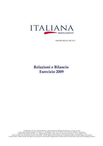 Relazioni e Bilancio Esercizio 2009 - Italiana Assicurazioni