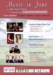 London Bridge Piano Trio Ruth Palmer violin ... - Wye Valley Music