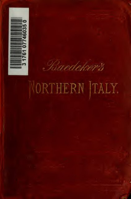 Italy; handbook for travellers - Index of