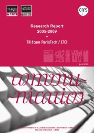 TSI report for the period 2005-2009 - Département Traitement du ...
