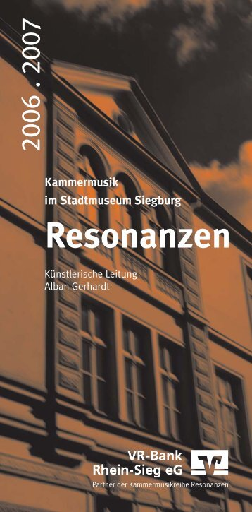Resonanzen aussen 07 - Artists and Concerts, Markus Bröhl