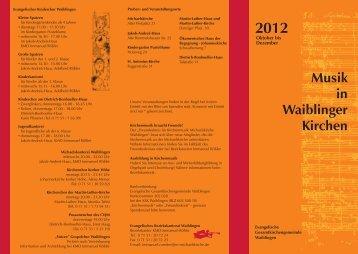 Halbjahresprogramm 2012-2 flyeralarm - Evangelische ...