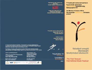 1 festival booklet final.cdr - Armenian Philharmonic Orchestra