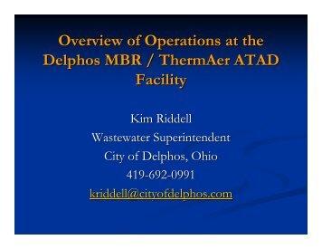 City of Delphos MBR/ThermAer Operations (PDF) - POTW Nutrient ...