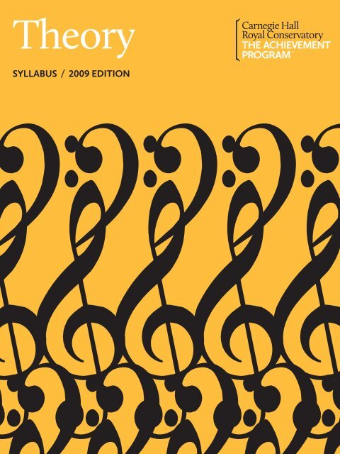 Theory Syllabus, 2011 Online Edition - The Achievement Program