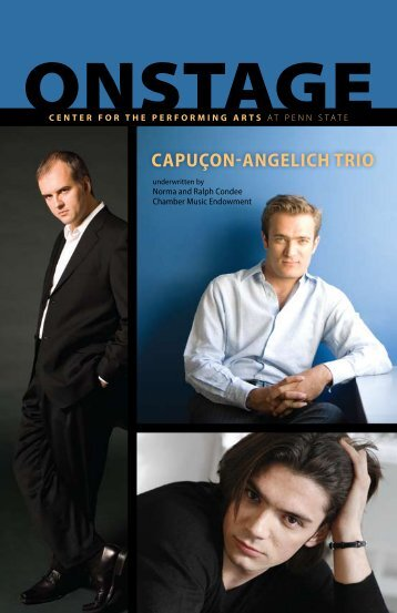 Capuçon-angeliCh Trio - Center for the Performing Arts
