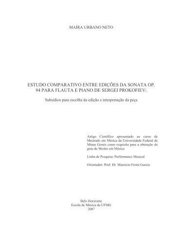 Mestrado Maíra - Biblioteca Digital de Teses e Dissertações da UFMG