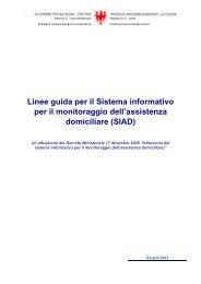 Linee Guida per la gestione del flusso informativo - Rete Civica dell ...