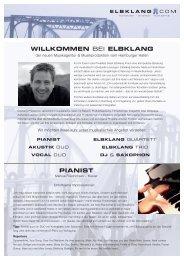 WILLKOMMEN BEI ELBKLANG PIANIST - Hamburg Locations