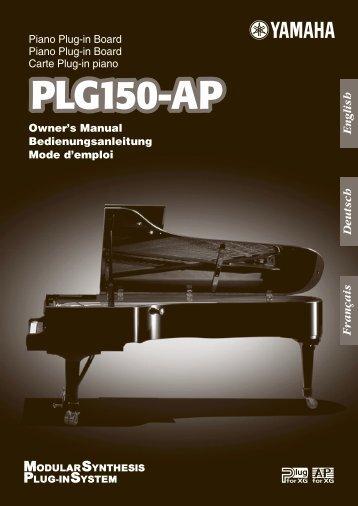 Piano Plug-in Board Carte Plug-in piano Owner's ... - Motif france