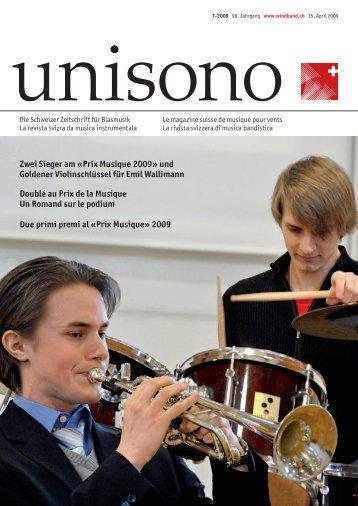 Zwei Sieger am «Prix Musique 2009 - Schweizer Blasmusikverband