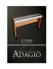 Thanks for using our digital piano - Adagio Music