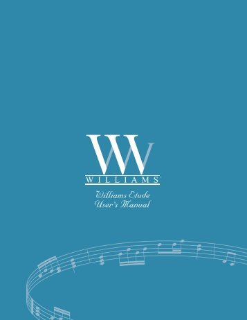 Download Manual - 1.37MB .pdf - Williams Digital Pianos