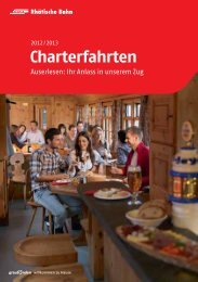 Charterwagen - Rhätische Bahn