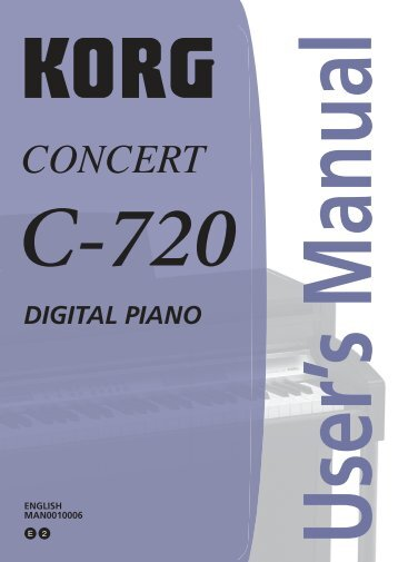 DIGITAL PIANO - Korg UK