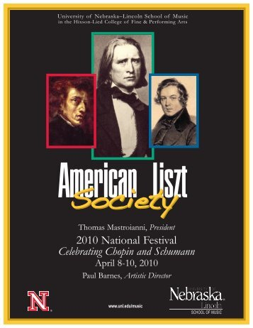 ALS Program (Page 1) - American Liszt Society