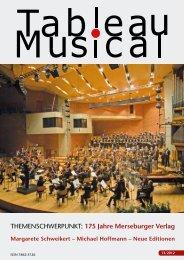Tableau Musical 13 - Merseburger Verlag