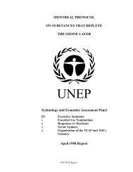 Technology and Economic Assessment Panel - Ozone Secretariat ...