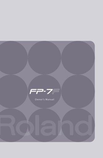 Owners Manual (FP-7F_OM.pdf) - Roland