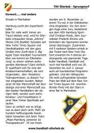 TSV Ellerbek - Sprungwurf www.handball-ellerbek.de Vorwort ...
