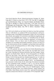 Rezensionen - Jean-Paul-Gesellschaft
