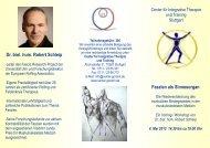 Ein Vortrag von Dr. biol. hum. Robert Schleip - Center für Integrative ...