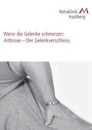Arthrose - Rehaklinik Hasliberg