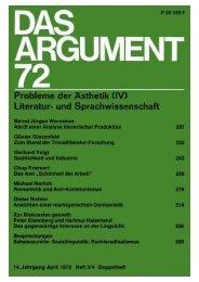 Das Argument 72 - Berliner Institut für kritische Theorie eV