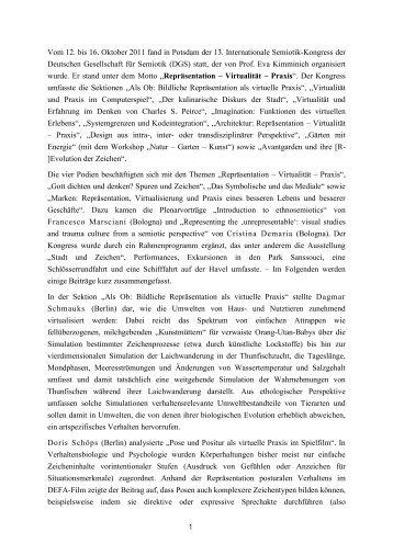 Konferenzbericht über den 13. Internationalen ... - Dr. Martin Siefkes