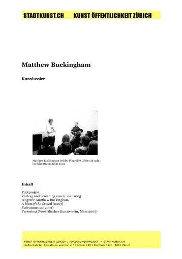 Matthew Buckingham - Kunst Öffentlichkeit Zürich