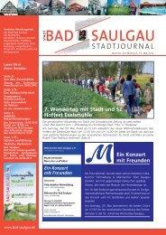 Stadtjournal Ausgabe 20/2012 - Stadt Bad Saulgau
