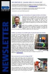 WILD ARMATUREN AG – Newsletter édition 8 du 18 janvier 2007