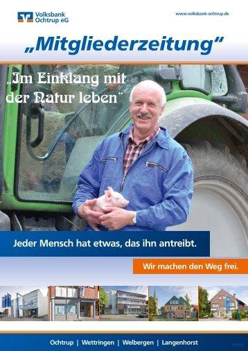 """""""Mitgliederzeitung"""" - Volksbank Ochtrup eG"""