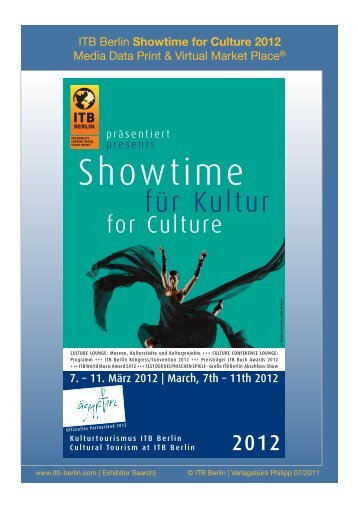 Showtime for Culture 2012 - ITB Berlin