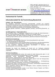 FS-Bautechnik Informationsblatt - Philipp-Holzmann-Schule