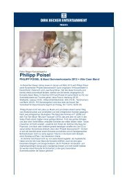 Philipp Poisel - Dirk Becker Entertainment GmbH