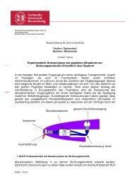 Experimentelle Untersuchung von gepulsten Aktuatoren zur ...