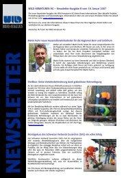 WILD ARMATUREN AG – Newsletter-Ausgabe 8 vom 18. Januar 2007