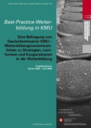 bildung in KMU - Schweizerischer Verband für Weiterbildung SVEB