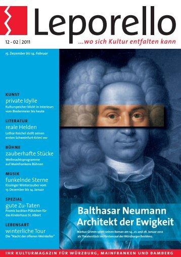 Balthasar Neumann Architekt der Ewigkeit - Leporello