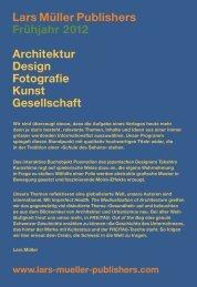 Lars Müller Publishers Frühjahr 2012 Architektur Design Fotografie ...