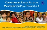 DRAFT Master Plan - Rochester City School District