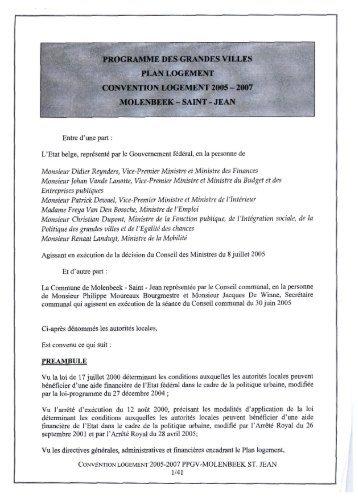 Contrat de Ville durable Molenbeek - (SPP) Intégration sociale, Lutte ...