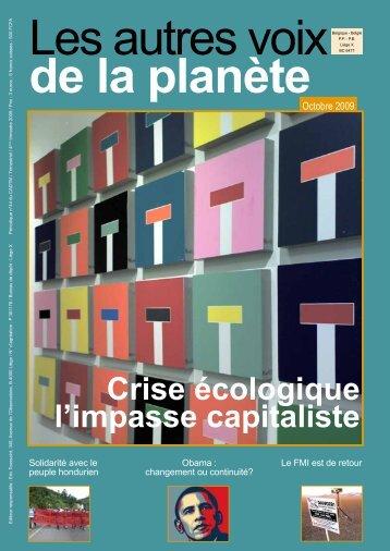 Crise écologique l'impasse capitaliste - cadtm