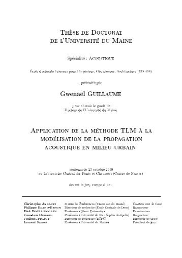 Application de la méthode TLM à la modélisation - Université du ...