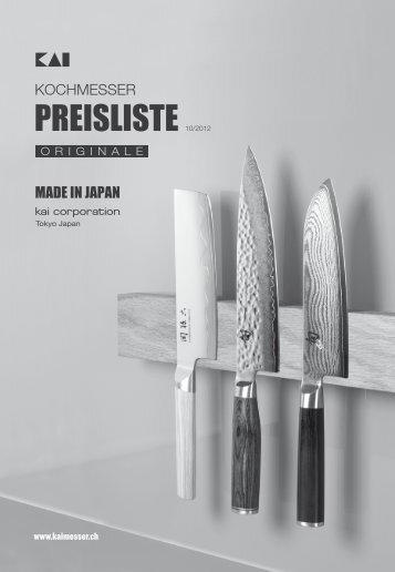 KAI Preisliste 09.2012 - Welt-der-Messer.ch