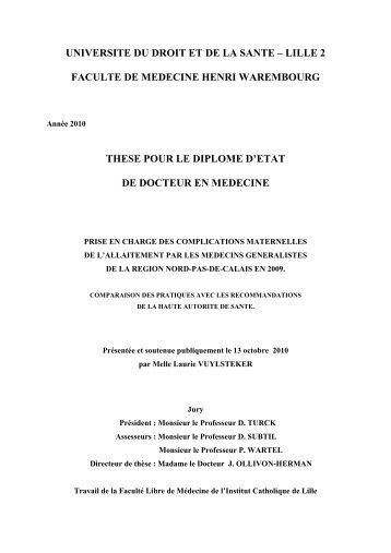 Thèse Médecine Générale Laurie Vuylsteker.pdf - Thèse IMG